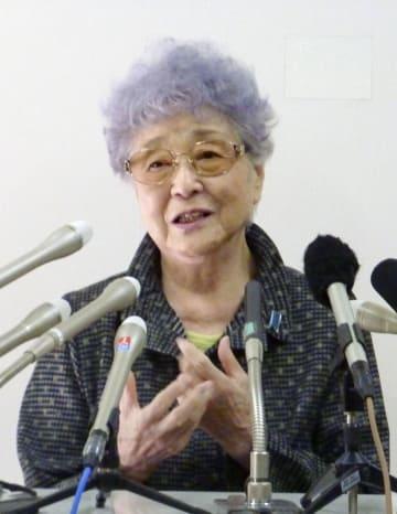横田めぐみさんが北朝鮮に拉致されてから41年となり、記者会見する母早紀江さん=14日、川崎市