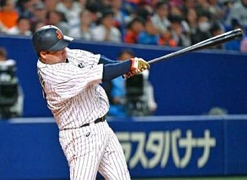 侍・山川7回代打 同点2点打