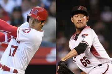エンゼルス・大谷翔平(左)とダイヤモンドバックス・平野佳寿【写真:Getty Images】