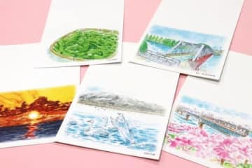 新潟市西区の郵便局が作成した絵入りはがき