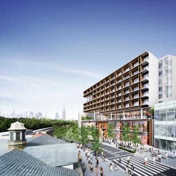 イケア・ジャパンが出店する東京・原宿駅前の複合ビルの完成予想図