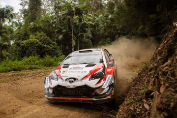 WRC:第13戦オーストラリアのシェイクダウンで逆転狙うトヨタのタナクが2番手タイ。オジエ最速