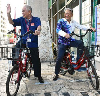 自転車シェア郵便局でも 那覇市内7ヵ所 サービス開始