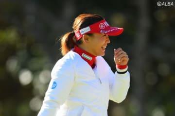 有村智恵、攻撃的なゴルフで単独トップに立った(撮影:佐々木啓)