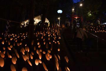 6000個の竹灯籠が並んだ霧島稲荷神社秋季大祭