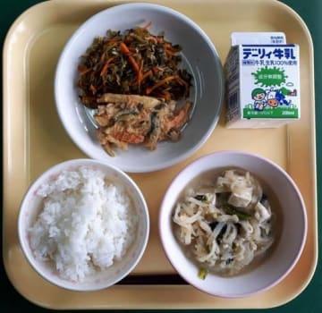 三股町の学校給食センターが「全国学校給食甲子園」に応募した献立(石井さん提供)