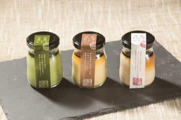 和菓子職人が作る、抹茶やきなこなど和素材を使ったプリン3種が登場