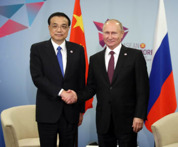 李克強総理、プーチン大統領と会見 中ロ協力の深化を強調