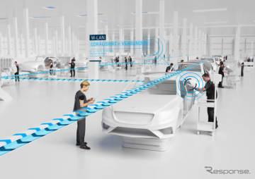 メルセデスベンツの次世代工場「ファクトリー56」のイメージ