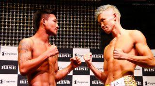 那須川天心を最も追い詰めた男ロッタン(左)。迎え撃つはRISE三階級制覇を達成した裕樹(右)