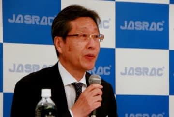 JASRACの浅石道夫理事長