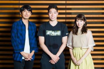 写真左から藤木直人、萩野公介、伊藤友里