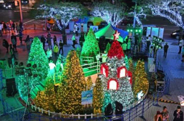 那覇の夜キラリ、今年も イルミネーション点灯、2月まで