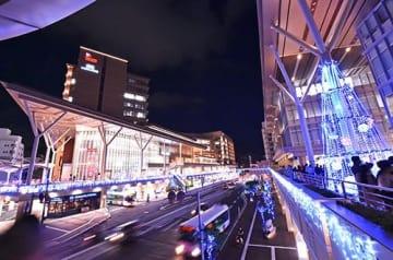 新しい街 きらめき2倍 カフーナ旭橋で点灯式