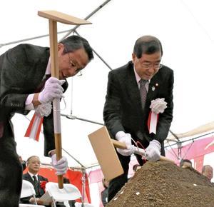 新築移転工事の安全祈願 坂下厚生総合病院と介護老人保健施設