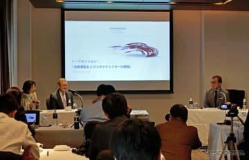 都内のホテルで開催されたVWの自動運転開発部門のリサーチャーであるDr.フォルムによるトークセッション