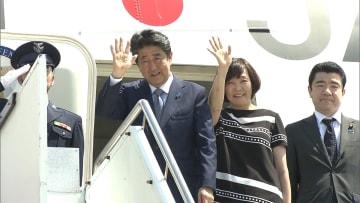 安倍首相、APEC出席へ 豪からパプアニューギニアへ出発