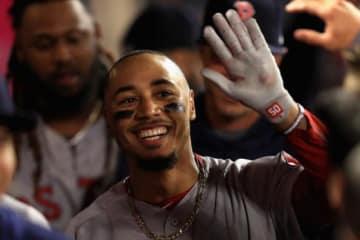 4月18日に大谷から本塁打を放ったレッドソックスのムーキー・ベッツ【写真:Getty Images】