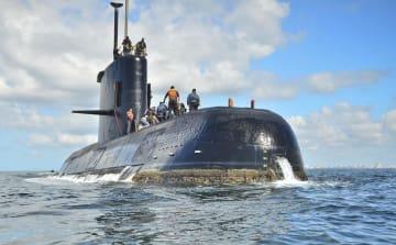 約1年前に消息を絶ったアルゼンチン海軍の潜水艦サンフアン(同国海軍提供、AP=共同)
