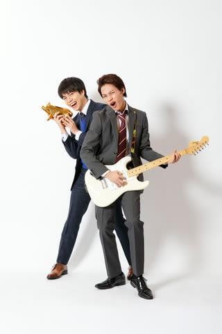 来年1月スタートの深夜ドラマ「節約ロック」の重岡大毅さん(左)と上田竜也さん(C)NTV・JS