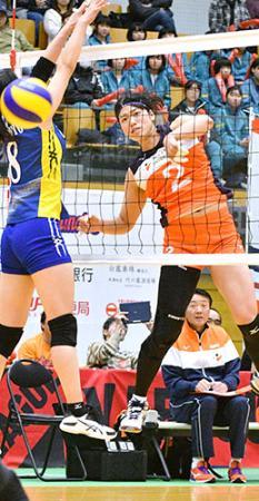 【アランマーレ】ホーム開幕戦飾る Vリーグ女子2部、3—1で3連勝