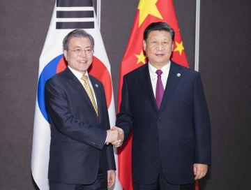習近平主席、韓国大統領と会見 「一帯一路」共同建設の推進を強調