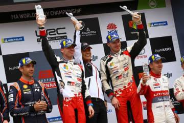 WRC:トヨタ、1999年以来のマニュファクチャラーズタイトル獲得。タナクはリタイア、ラトバラがシーズン初優勝