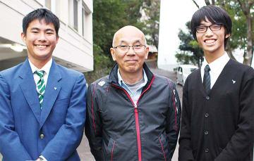 「北海道は寒かったです」と語る3人(左から白鳥さん、岡部先生、長坂さん)