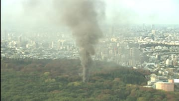 明治神宮で火災 倉庫全焼 2階から煙...原因は