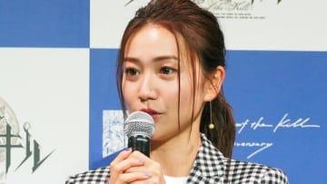 スマートフォン向けゲーム「ファントム オブ キル」の新CM発表会に出席した大島優子さん