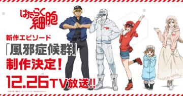 『はたらく細胞』TVアニメ新作エピソード「風邪症候群」が制作決定! 放送は2018年12月26日(水)に