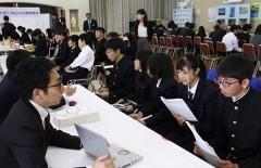 将来は岡山に就職を 企業がPR