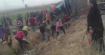 トラックが横転しサトウキビが散乱、「持っていくのは折れたものだけにしてくれ」との運転手の呼びかけを近隣住民は無視―中国