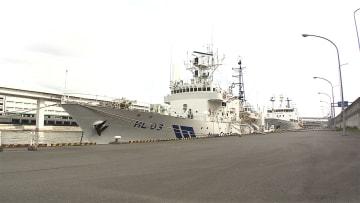 """""""南海トラフ""""測量船が出発 海底の地殻変動を観測"""