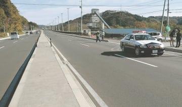 4車線化工事を終え、使用が始まった蔵王町宮の国道4号