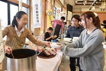 「雪若丸」、庄内のカレーと出陣! 三川・食べくらべイベント