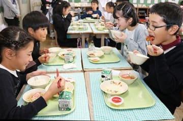 県西部6市の食材で給食 高岡・射水の小中学校
