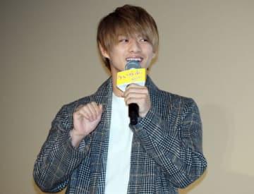 映画「ういらぶ。」の公開御礼トークショーに出席した平野紫耀さん
