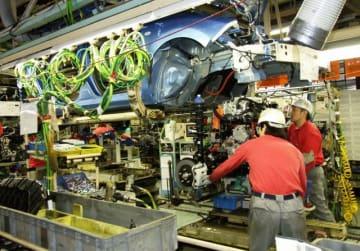 日産自動車の主力生産拠点、追浜工場=2011年撮影、横須賀市