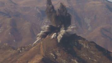 北朝鮮が監視所一斉爆破 南北の軍事的緊張緩和