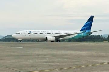 ガルーダ航空は来年3月にジャカルタ—名古屋の直行便を就航する(NNA撮影)