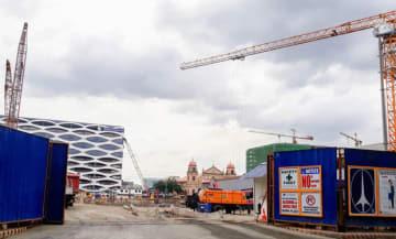 イケアのフィリピン1号店の建設地=20日、首都圏パサイ市(NNA撮影)