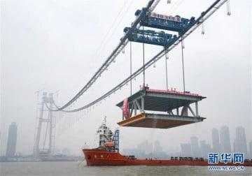 湖南省で建設中の世界最長の二層通路橋、1つ目の橋げた設置―中国