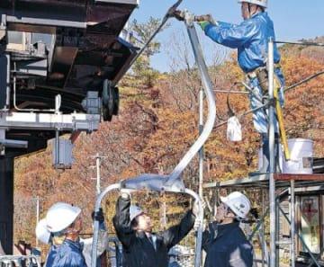 降雪心待ち、リフト設置 金沢・医王山スキー場