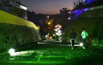 杵築城下町ライトアップ 観光客増へ定期的に 市と観光協会 [大分県]