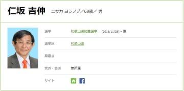 和歌山県知事選立候補者|仁坂吉伸(にさか よしのぶ)氏の経歴・政策は?