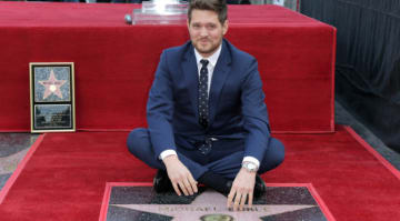 Michael Buble gets star on Hollywood Walk of Fame