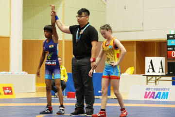 33kg級優勝のプージャ・ラニ。U-15世代でもインドの躍進が目立った