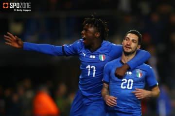 終了間際のゴールでイタリアが勝利