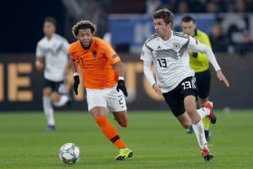 公式戦で白星が遠いドイツ代表。オランダ戦で2点のリードを守り入れず photo/Getty Images